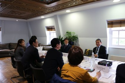 Chief Executive of Civil Service College, Sonny Leong CBE meets with representatives from the Gyeonggi Province, South Korea